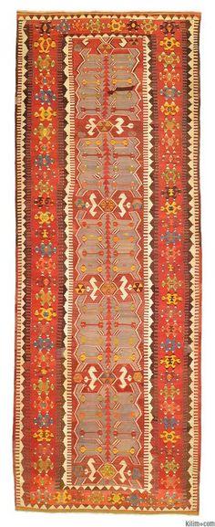 Antique Konya Obruk Kilim Rug around 90 years old.