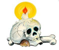 Vintage Halloween Hallmark Skull with Candle Die Cut | Flickr - Photo Sharing!