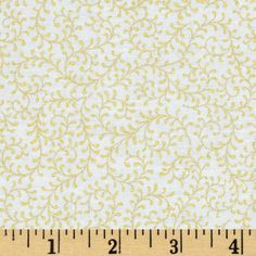 Paisley Peacock Metallic Vine White/Gold from @fabricdotcom  Designed by Punch Studio for Hoffman, this fabric is perfect for quilting, apparel and home décor accents.  Colors include gold on a white background.