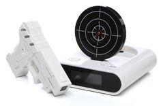 Gun & Target Recordable Alarm Clock Set