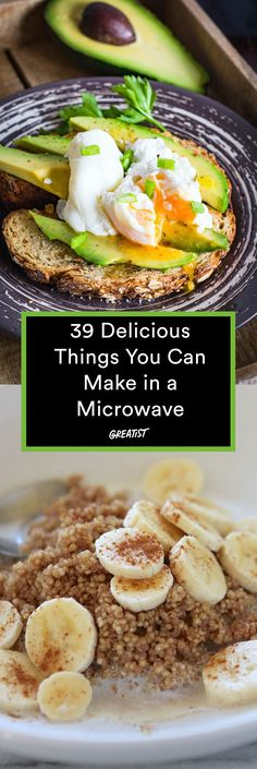Microwave Recipes: 34 Surprisingly Delicious Meals and Snacks You won't believe your taste buds. Healthy Microwave Meals, Microwave Breakfast, Quick Healthy Meals, Healthy Breakfast Recipes, Healthy Cooking, Easy Meals, Healthy Eating, Healthy Recipes, Microwave Oven