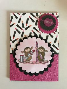 Cards by Gigi's Boutique House Mouse Eye Pencil and lipstick ready