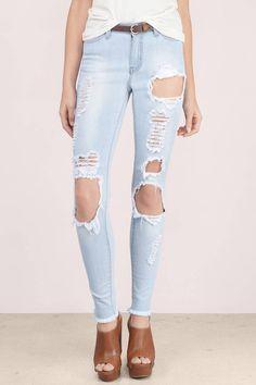 Fleetwood Destroyed Skinny Jeans at Tobi.com #shoptobi