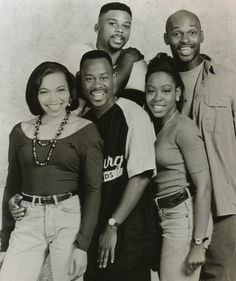 Tisha Campbell as Gina Waters-Payne, Martin Lawrence as Marin Payne, Carl Anthony Payne III as Cole Brown, Tichina Arnold as Pamela James, and Thomas Mikal Ford as Tommy Strong in Martin.