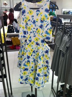 Zara new collection cut out floral dress