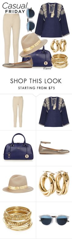 """""""Casual Friday"""" by hastypudding ❤ liked on Polyvore featuring Étoile Isabel Marant, Furla, Eugenia Kim, ABS by Allen Schwartz, Christian Dior, designer, isabelmarant, fashionset and AmiciMei"""
