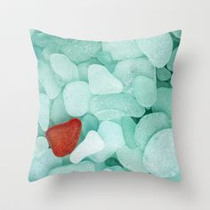 Sea+glass+Throw+Pillow+by+Cultivate+Bohemia+-+$20.00