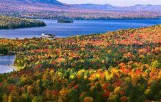 Maine. otoño en EEUU
