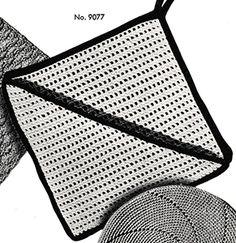 Crochet Potholder Patterns, Pattern Books, Vintage Crochet, Crochet Hooks, Pot Holders, Free Pattern, Crochet, Hot Pads, Potholders
