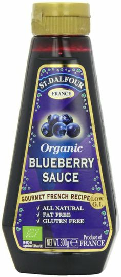 St Dalfour Organic Blueberry Dessert Sauce 300 g (Pack of 3): Amazon.co.uk: Grocery