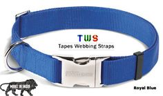 #Tapeswebbingstraps #Goradiaindustries #Makeinindia Now we started selling our products on amazon. Now you can easily buy our products from amazon,snapdeal. Blue dog collar which suits your dog. Adjustable and you can easily remove this from your pets neck . For more details click on the below link or call us on +9833884973/9323558399 http://tapeswebbingstraps.in/product-category/dog-collars/