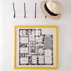 Hang a floor plan so guests will never get lost. | 33 Incredibly Easy Tricks To Vastly Improve Your Entryway