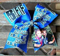 BFF Best Friend Picture Cheer Bow by PalmBeachBowtique on Etsy