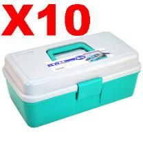 Wholesale Lot 10 Tool Storage Box Cases - Great For Tools - Great For Storing Small Things