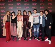 Some of the cast from Baby Netflix Series, Series Movies, Movies And Tv Shows, Tv Series, Baby Tv Show, Baby Netflix, Bae, Teen Wolf, Good Music