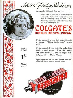Gladys Walton for Colgate's Dental Cream, December 1925