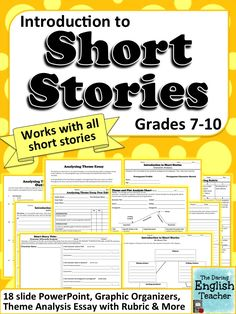 Ordinaire Teach Your Middle And High School Students All About Short Stories With  This Unit. It