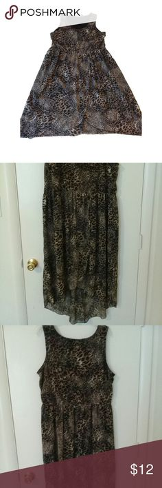 Animal Print High-low dress Knee length, 100% polyester Speed Control New York Dresses High Low