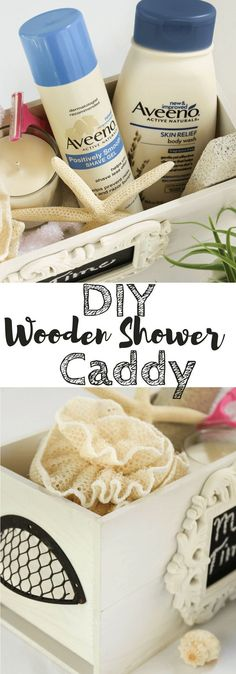 #ad It is time to treat yourself and make this adorable but simple DIY Wooden Shower Caddy for a little 'me time'. Fill the caddy with your favoriteAVEENO®️️️️ products likeAVEENO®️️️️ Skin Relief Body Wash andAVEENO®️️️️ POSITIVELY SMOOTH®️️️️ Shave Gel to help turn your daily shower into a mini spa-like experience.@Walmart @Aveeno #TimeWithAveeno | Beauty | Shower