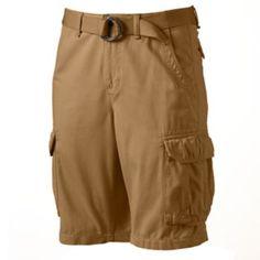 Urban Pipeline Belted Twill Cargo Shorts - Men