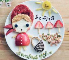 Creative Food Art by Samantha Lee 08 Bento Recipes, Baby Food Recipes, Food Design, Food Art Lunch, Bento Food, Food Food, Amazing Food Art, Food Art For Kids, Food Kids