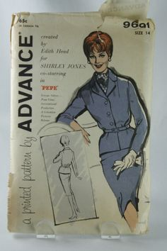 Advance Sewing Pattern by Edith Head Shirley Jones Pepe Size 14 Skirt Jacket