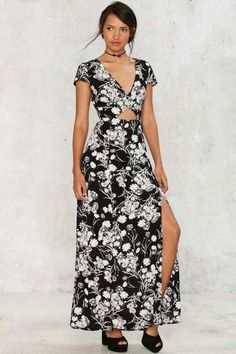 Factory Need a Trim Floral Maxi Dress