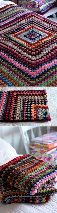Diamond Stitch Crochet Blanket.