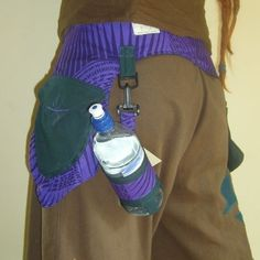 Utility Belt / Pocket Holster (custom made) by beautifulchaos with water bottle holder - great for festivals, hiking, shopping