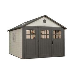 11 ft. x 11 ft. Storage Shed with 9 ft. Wide Carriage Door