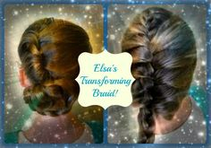 Elsa hair tutorial, go from an updo to a braid in a matter of seconds! Inspired by Disney's Frozen.
