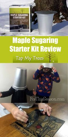 """""""The guidebook has been an extremely valuable resource to help us prepare to tap our trees. Tapping Maple Trees, Maple Sugar, Sugar Alternatives, Sugaring, Fun Hobbies, Natural Sugar, Kid Friendly Meals, Guide Book, Starter Kit"""