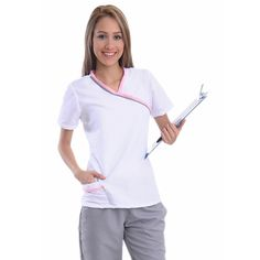 Ref-028 Scrubs Outfit, Scrubs Uniform, Doctor Scrubs, Medical Scrubs, Nursing Scrubs, Medical Uniforms, Dentistry, Blouse, Dental