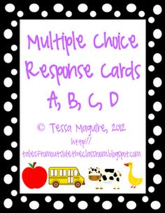 Great post on changing up your multiple choice worksheets