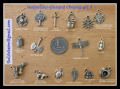Outlander Gabaldon Themed Charm Collection by TheLiteraryCharm, $13.00