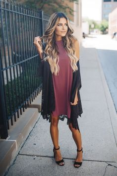 Charcoal Lace Kimono - Dottie Couture Boutique