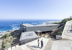 """""""Gorgeous Minimalist Home Overlooking the Ocean in Chile"""" - This view from above the house itself gives just a slice of the sweeping views of the Pacific the home offers."""