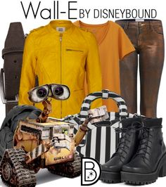 Wall-e Disneybound - You have no idea how much I want those rust coloured pants. The whole outfit is great, but those pants... (trousers)