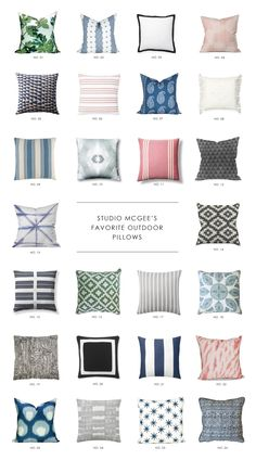 A round up of our favorite outdoor pillows