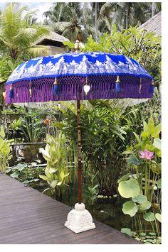 Paradise Island Collection Medium Size Luxury Garden parasol Arabian Night, ideal for any japanese garden design bali Bali Garden, Balinese Garden, Tropical Garden, Garden Parasols, Patio Umbrellas, Umbrella Shop, Japanese Garden Design, Outdoor Umbrella, Paradise Island
