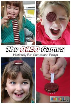 The OREO Games - 7 Fun Games and Relays Using Oreos #ad