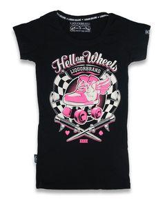Tričko Liquorbrand - Rollerskate Pink Roller Skates 2e7b8a5319
