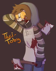 Ticci-Toby by minttwix on DeviantArt Creepypastas Ticci Toby, Jack Creepypasta, Eyeless Jack, Old Fan, Laughing Jack, Boy Character, Urban Legends, Horror Stories, Comic Art