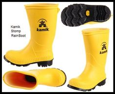 kamik (canada) stomp rainboots for toddler & kids