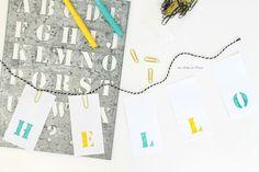 DIY: een simpele en snelle letter banner van papier