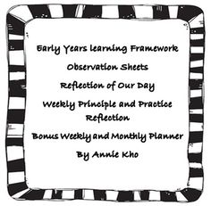 Early years learning framework on pinterest templates for Early years learning framework planning templates