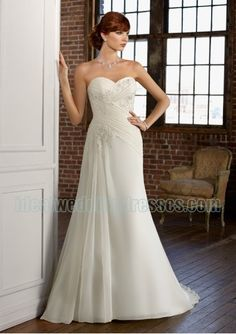Strapless Sweetheart Neckline with Rouched Bodicen and Slim Sheath Skirt Fashion 2011 Corset Chiffon Wedding Dress WL-0119