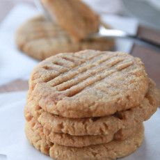 Skinny peanut butter cookies without the butter, oil and cut the sugar more than half.