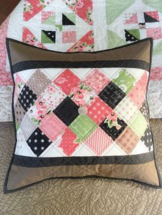 Carried Away Quilting: Free mini charm pack tutorial for an On Point Pillow using Olive's Flower Market by Lella Boutique for Moda Fabrics. Coordinates with the Window Garden Quilt. #showmethemoda