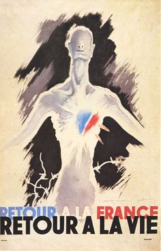 """""""Return to France - Return to life"""", 1945. Artist: Raymond Gid. Liberation - Return of French concentration camp prisoners, civilian forced labourers and prisoners of war ."""